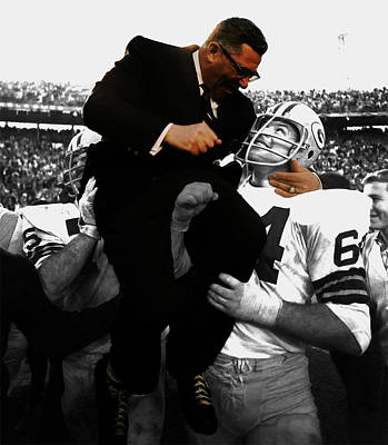 Vince Lombardi Green Bay Packers Print by Brian Reaves