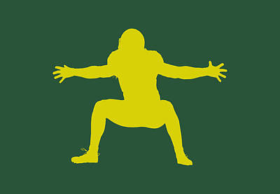 Green Bay Packers Clay Matthews Print by Joe Hamilton