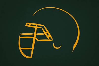 Green Bay Packers Helmet Print by Joe Hamilton