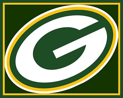 Icon Mixed Media - Green Bay Packers by Tony Rubino