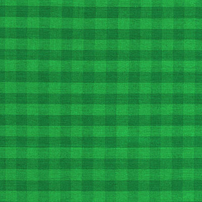 Green Checkered Pattern Cloth Background Print by Keith Webber Jr