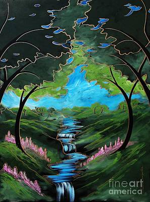 Green Creek Print by Steven Lebron Langston
