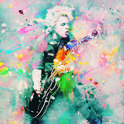 Splats Painting - Green Day  by Rosalina Atanasova