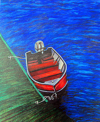 Green Dock Original by Deb Wolf