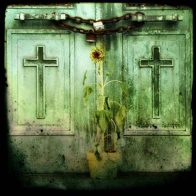 Old Age Digital Art - Green Doors by Gothicolors Donna