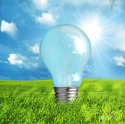 Lights Photograph - Green Energy Concept by Michal Bednarek