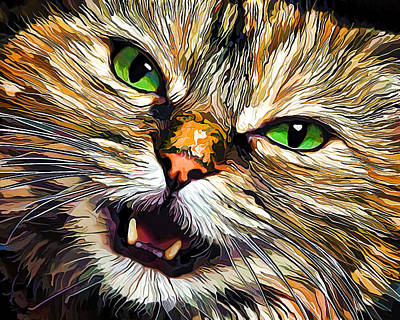 Green-eyed Girl Print by Bill Caldwell -        ABeautifulSky Photography