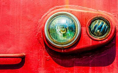 Green Eyes Of The Red Train Print by Alexander Senin