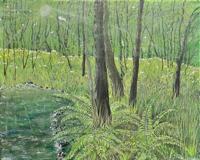 Green Fern Print by Leo Gehrtz
