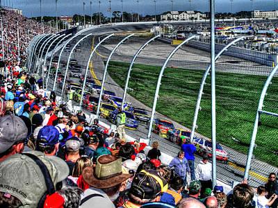 Daytona 500 Photograph - Green Flag 2010 Daytona 500 by Craig T Burgwardt