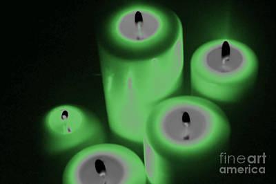 Green Glow Print by Tina M Wenger