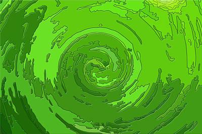 Green Helix Print by Jozef Jankola