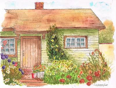 Green House Print by Carlos G Groppa