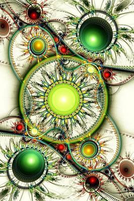 Jewel Digital Art - Green Jewelry by Anastasiya Malakhova