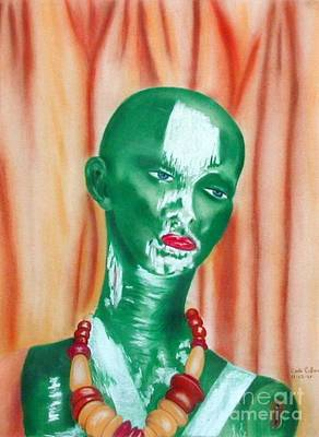 Green Lady Print by Carla Jo Bryant