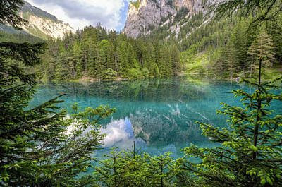 Styria Photograph - The Green Lake by Alex Galiano