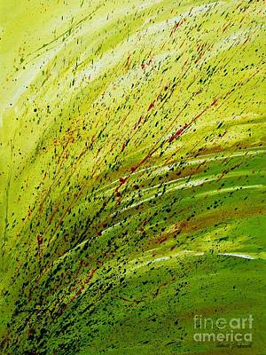 Green Landscape - Abstract Art  Print by Ismeta Gruenwald