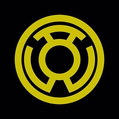 Halloween Digital Art - Green Lantern - Yellow Emblem by Brand A