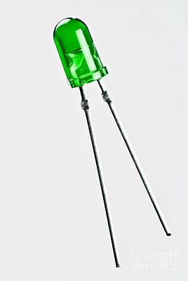 Green Led Print by Martyn F. Chillmaid