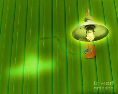 Lamp Photograph - Green Light by John King
