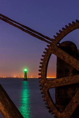 Green Lighthouse Print by Semmick Photo