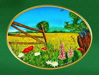Green Meadow Print by Russ Murry