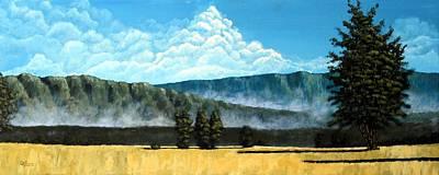 Green Mist Original by Michael Dillon