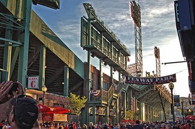 Fenway Park Photograph - Green Monster by Joann Vitali