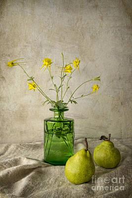 Green Pears Print by Elena Nosyreva