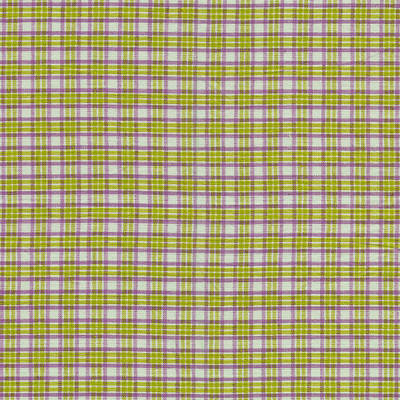 Green Pink And White Plaid Design Fabric Background Print by Keith Webber Jr