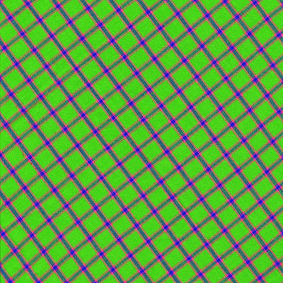 Green Pink Blue Plaid Fabric Background Print by Keith Webber Jr