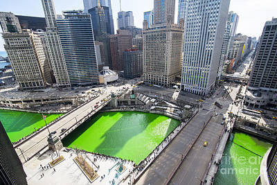 Green River Chicago Print by Jeff Lewis