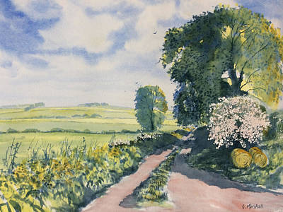 Green Road To Cottam Print by Glenn Marshall