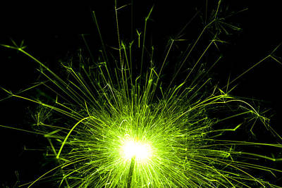 Green Sparkle Print by Samuel Whitton