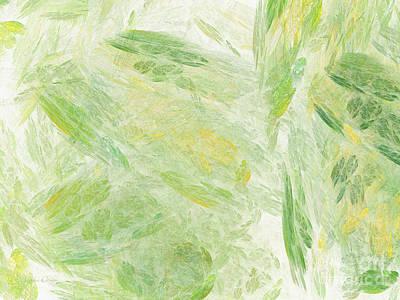 Yellow Digital Art - Green Splash Abstract by Andee Design
