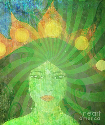 Green Tara Goddess Print by Sacred  Muse