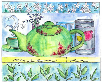 Lavender Drawing - Green Tea by Cathie Richardson
