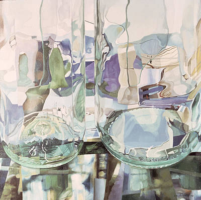 Green Transparency Transparence Verte 1981 Oil On Canvas Print by Jeremy Annett