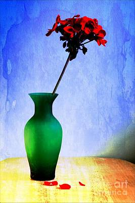 Green Vase 2 Print by Donald Davis