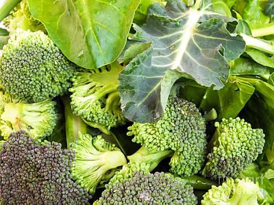 Green Vegetables Print by Sinisa Botas