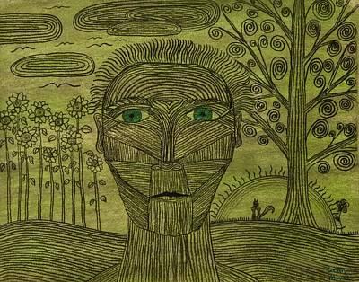 Green World Print by Sean Mitchell