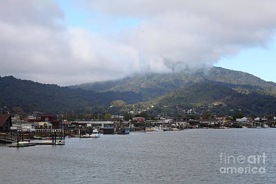 Greenbrae California Boathouses At The Base Of Mount Tamalpais 5d29350 Print by Wingsdomain Art and Photography
