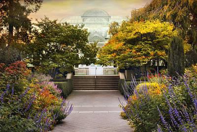 Walkway Digital Art - Greenhouse Garden by Jessica Jenney