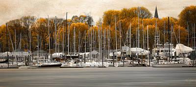 Greenwich Bay Harbor In Rhode Island Print by Lourry Legarde