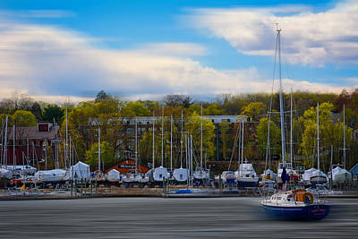 Yachts Photograph - Greenwich Marina by Lourry Legarde