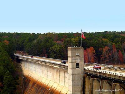 Greers Ferry Dam Print by Kim Loftis