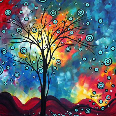 Plum Painting - Greeting The Dawn By Madart by Megan Duncanson