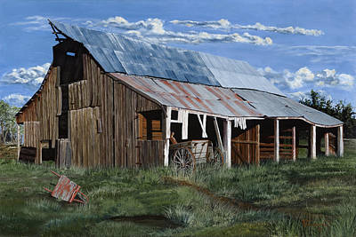 Tim Painting - Greive's Barn by Timithy L Gordon