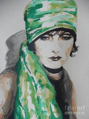 Greta Garbo Print by Chrisann Ellis
