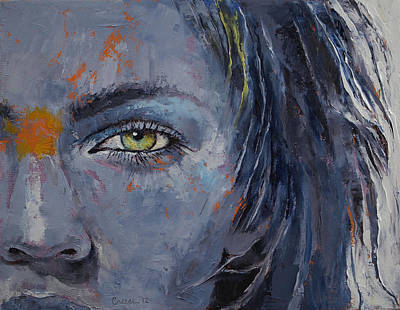 Anime Painting - Grey by Michael Creese